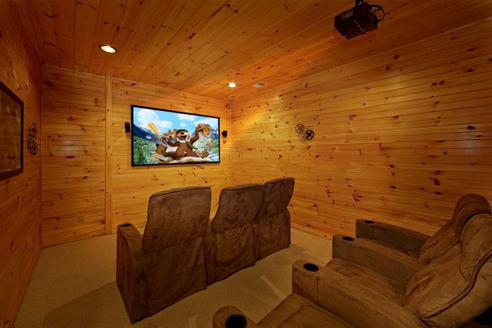 Smoky Mountain Cabin with Premium Theater Room - 1 In A Million