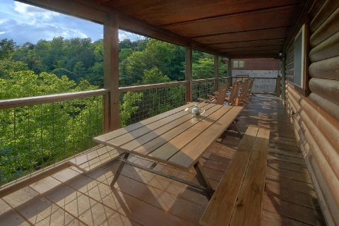 Smoky Mountain 5 Bedroom Cabin Outdoor Seating - 3 Little Bears