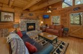 Cabin with Living Room Fireplace