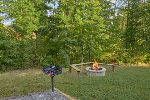 Fire Pit 3 Bedroom Cabin Sleeps 6 - 4 Paws