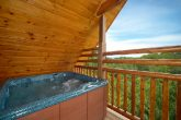 Hot Tub that Features Smoky Mountain Scenic View