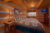 King bedroom in Rustic 2 bedroom cabin