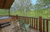 Premium cabin rental with hot tub on the deck