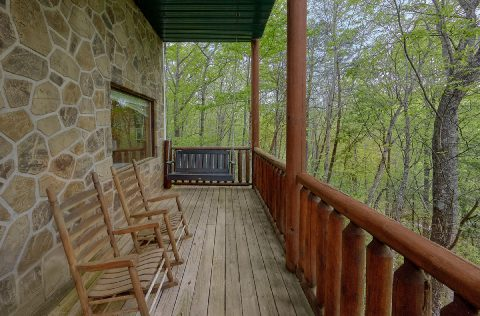 2 bedroom cabin with porch swing and wooded view - A Bear Affair