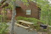 Cabin with picnic table, grill and wooded views