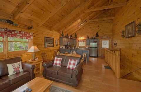 2 Bedroom cabin with sleeper sofa in living room - A Bear Affair