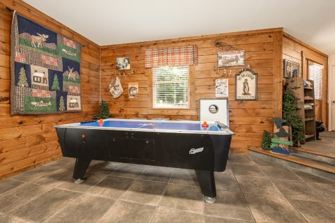 Game Room with Air Hockey Table - A Bear Creek