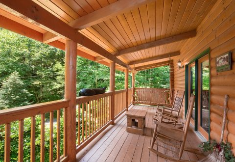 Covered Deck with Rocking Chairs - A Bear Creek