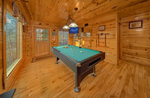Pool Table with Views - A Bear Encounter