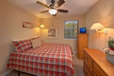 King Bedroom with Flatscreen TV - A Bears End