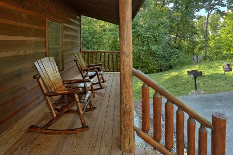 Premium Cabin with Rocking Chair and Grill - A Bear's View