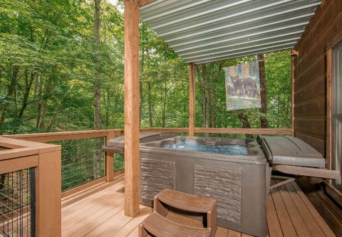 2 Bedroom Cabin with Hot Tub and Wooded View - A Bear's View