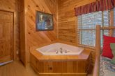 Cabin with Private Jacuzzi Tub in King Bedroom