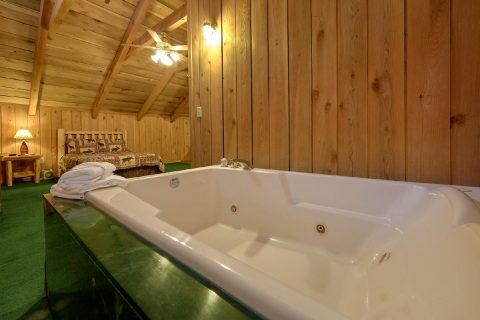 Jacuzzi Tub in Loft Bedroom - A Creekside Retreat