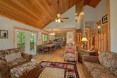 Spacious cabin with fireplace and sleeper sofa