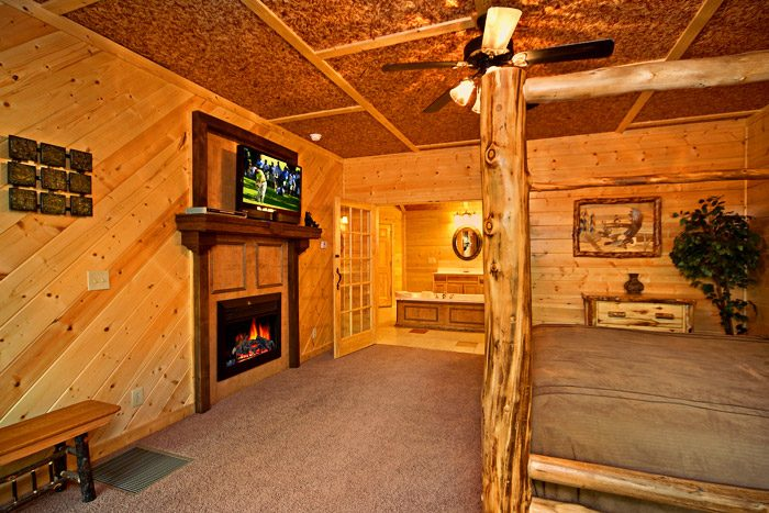Fireplace in Master Suite - A Friendly Forest
