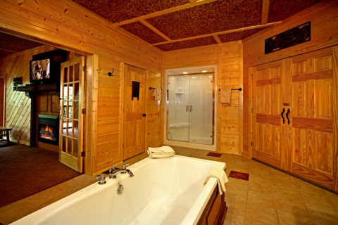 Jacuzzi Tub in Cabin - A Friendly Forest
