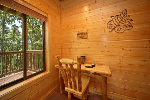 Cabin with Desk - A Friendly Forest