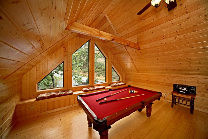 Pool Table with Views - A Friendly Forest