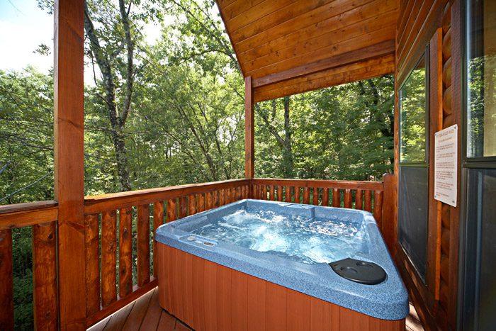 Hot Tub on Deck - A Friendly Forest