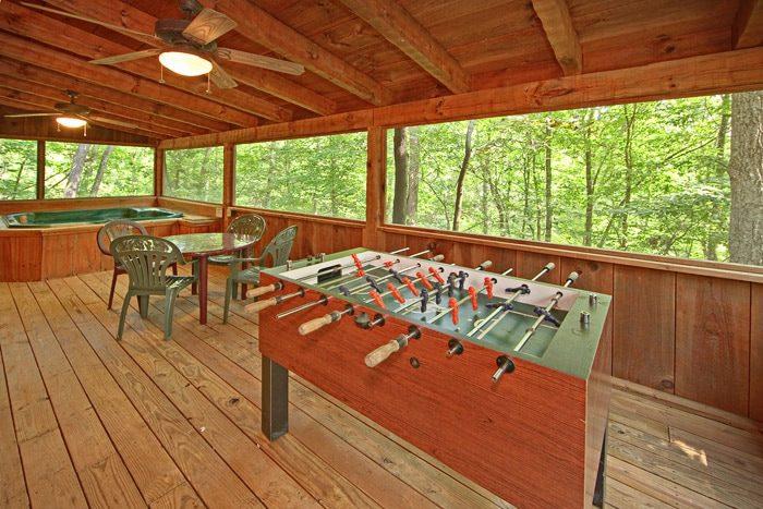 Cabin with Foose Ball Table - A Hidden Mountain 360
