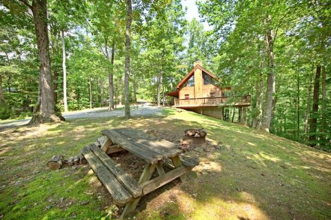 Cabin with Picnic Area - A Hidden Mountain 360