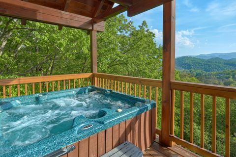 3 bedroom cabin with Hot tub and Mountain View - A Lazy Bear's Hideaway