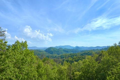 View of the Smoky Mountains from 3 bedroom cabin - A Lazy Bear's Hideaway