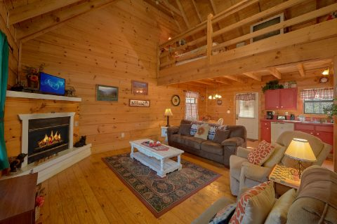 2 Bedroom 2 Bath Cabin Open Floor Plan - A Little Bit Of Lovin'