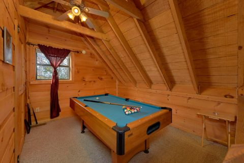 Open Loft with Pool Table - A Little Bit Of Lovin'