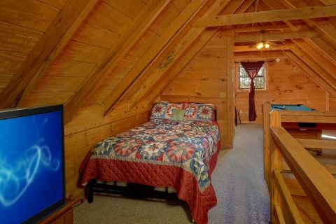 Open Bedroom in Loft Twin Beds - A Little Bit Of Lovin'