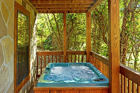 Hot Tub with Wooded View - A Mountain Escape