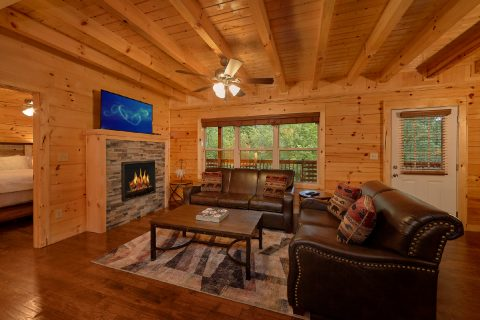 5 Bedroom cabin with fireplace in living room - A Mountain Palace