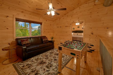 Cabin Loft with sleeper sofa and Foosball Game - A Mountain Palace