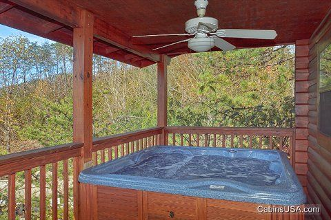 Hot Tub with Scenic View - A Mountain Retreat
