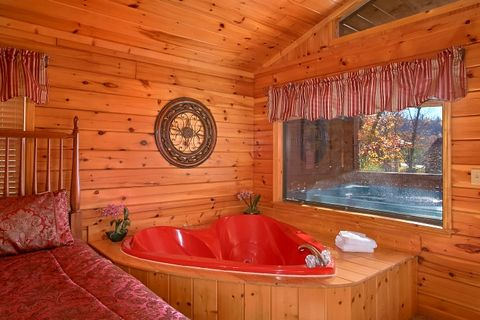 Smoky Mountain Cabin with Heart Shaped Jacuzzi - A New Beginning