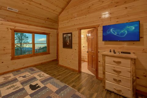 King Bedroom with Flatscreen TV - A Smoky Mountain Dream