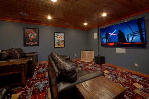 Luxury Cabin with Theater Room Sleep 20 - A Smoky Mountain Dream