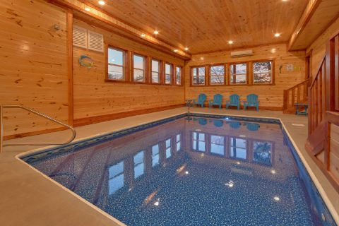6 Bedroom Cabin with Private Indoor Heated Pool - A Smoky Mountain Dream