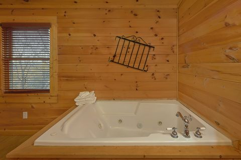Jacuzzi in Master Suite - A Smoky Mountain Experience