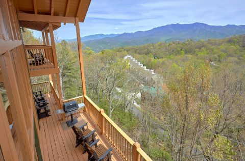 Views of Gatlinburg from 5 bedroom cabin - A Spectacular View to Remember