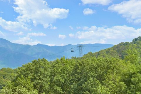 Cabin with view of Tram to Ober Gatlinburg - A Spectacular View to Remember