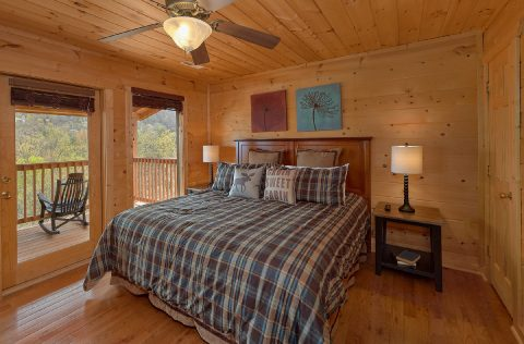 Cabin with Mountain Views from Master Bedroom - A Spectacular View to Remember