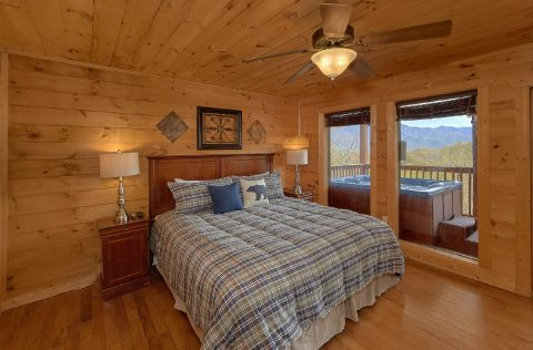 Cabin bedroom overlooking Ober Gatlinburg - A Spectacular View to Remember
