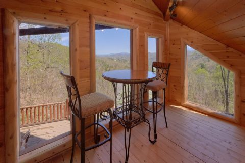 Luxury cabin with large stone fireplace - A Stunning View
