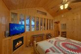 King bedroom with Fireplace in Premium Cabin