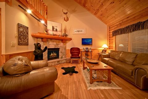 2 Bedroom Pigeon Forge Cabin with Fireplace - A Tennessee Twilight