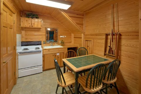 2 bedroom cabin with Kitchenette in Game Room - A Twilight Hideaway