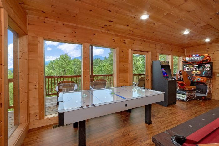 Luxury Cabin with Pool Table and Air Hockey Game - A View From Above