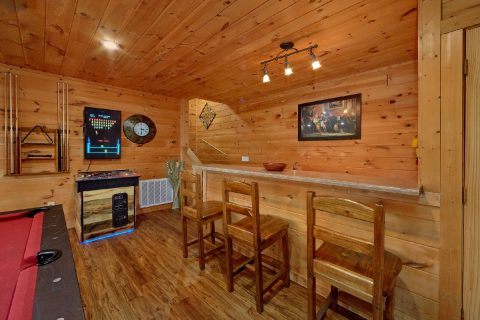 Cabin with Game Room, pool table and bar - A View From Above